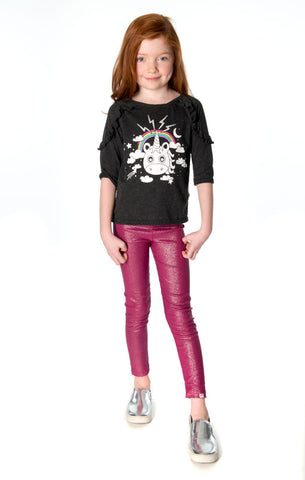 Appaman Girls Fall Fuchsia Sparkle Leggings