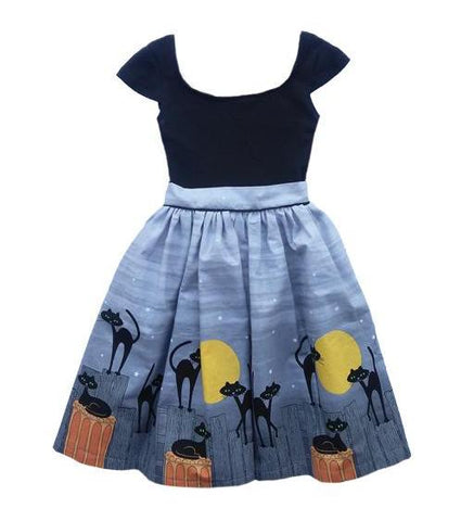 Fiveloaves Twofish Cat & The Moon Maddie Dress