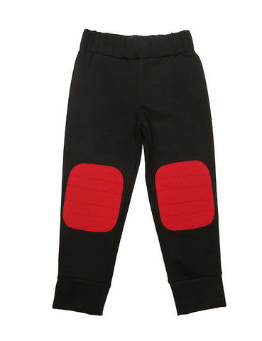 GNU Brand Fall 2016 Red Knee Patch Sweat Pants - Cute Designer Children's Clothing