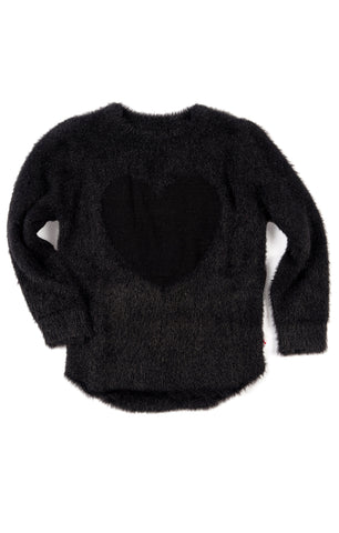 Appaman Girls Fall Black Fuzzy Libby Sweater