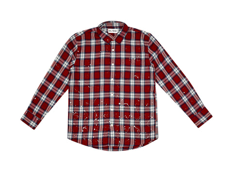 DL1961 Red Plaid Ash Button Up Shirt