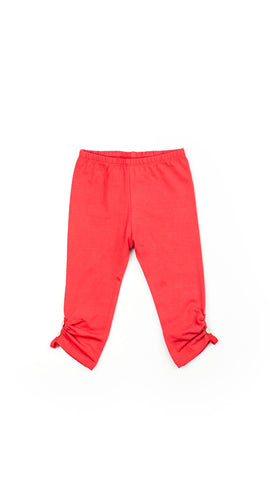 Little Wings Girls Red Side Button Leggings - Little Luna Blue  - 1
