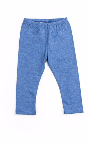 Little Wings Girls Indigo Leggings - Little Luna Blue  - 1