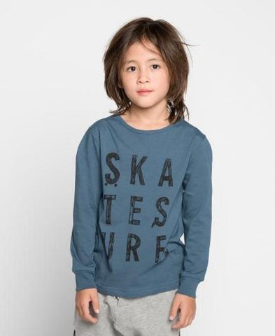 Munster Kids Boys Blue Scrabble Tee