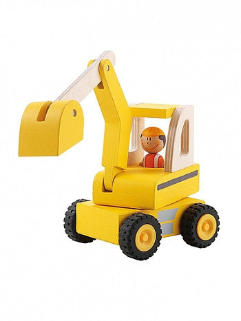 Sevi Wooden Excavator Toy - Little Luna Blue  - 1