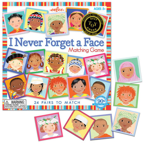 eeBoo I Never Forget A Face Matching Memory Game - Cute Designer Children's Clothing