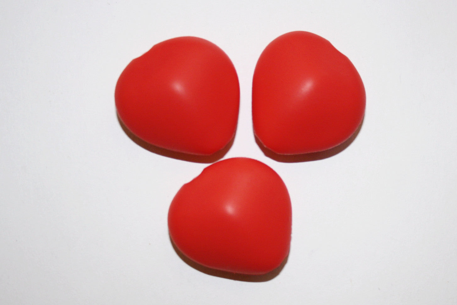 Pebble Beads   Coral Red