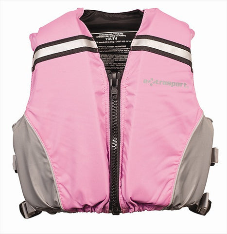 EXTRASPORT VOLKS JR. PFD PINK/GRAY