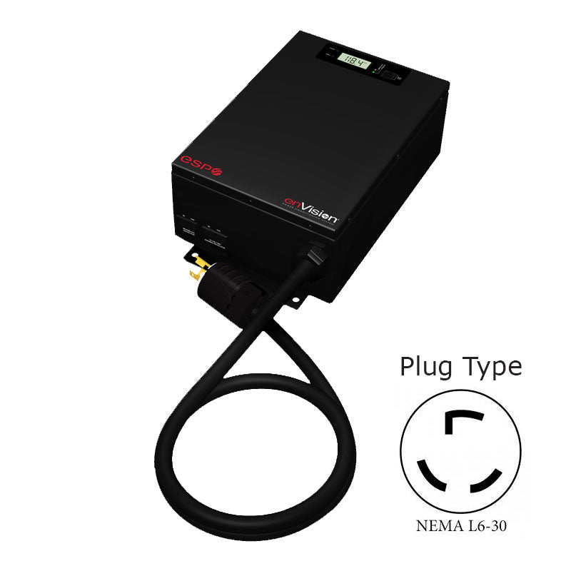 ESP enVision Surge Protector/Noise Filter/Power Monitor - 208-240 volt, 30 amp with L6-30 (locking) connectors - Model EV-20830-L630-GNS