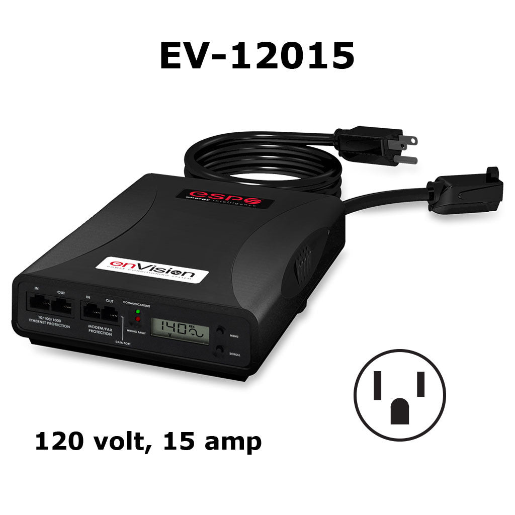 ESP enVision Surge Protector/Noise Filter/Power Monitor - 120 volt, 15 amp - Model EV-12015