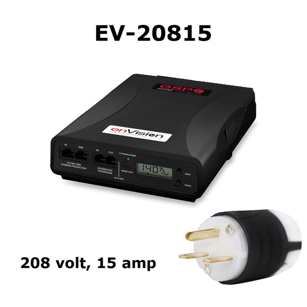 ESP enVision Surge Protector/Noise Filter/Power Monitor (Model #EV20815) 208-240 volt, 15 amp