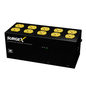SurgeX SA-1810 Standalone Surge Eliminator - Surge Protector and EMI/RFI Noise Filter - 120 volt, 15 amp