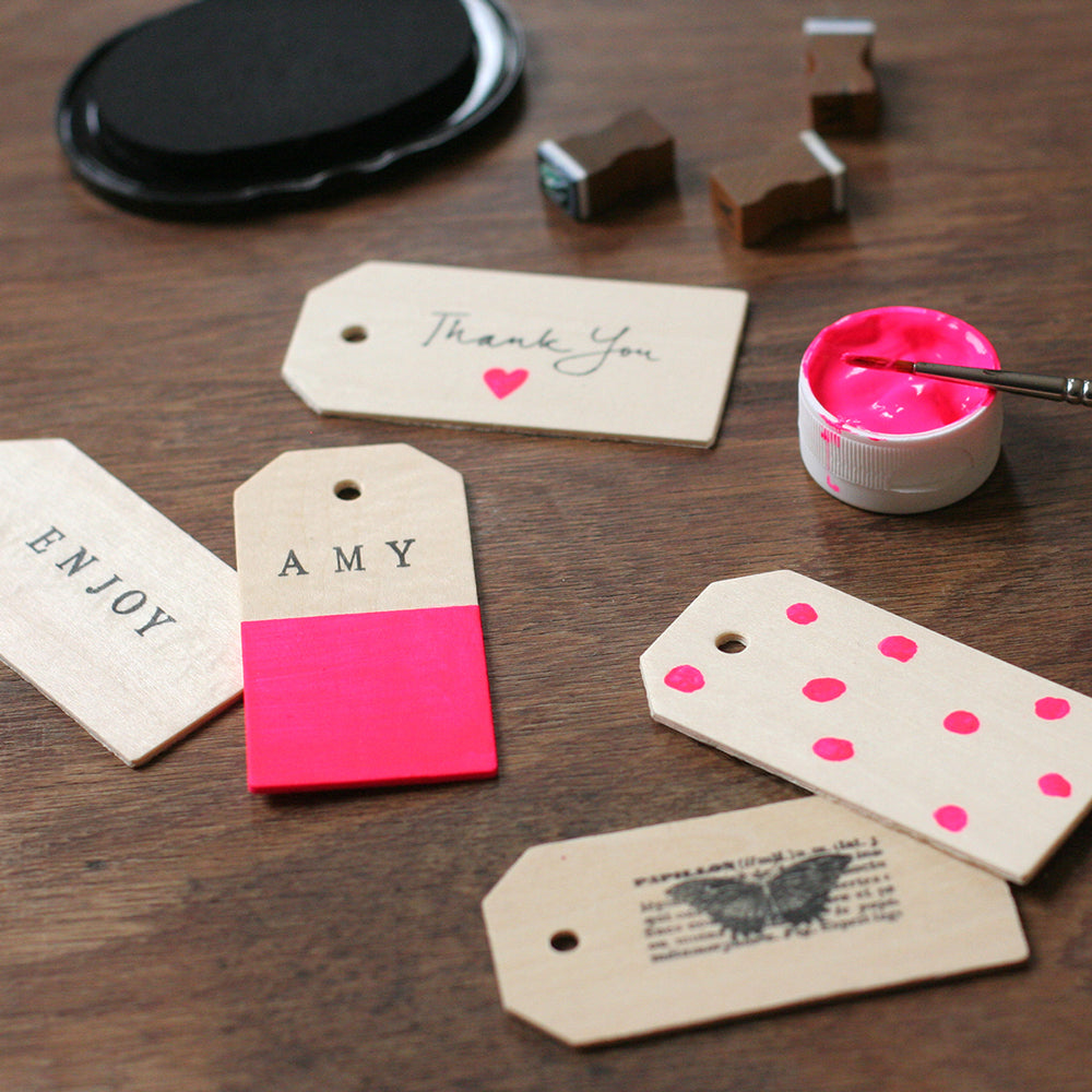 Paint Your Wooden Tags