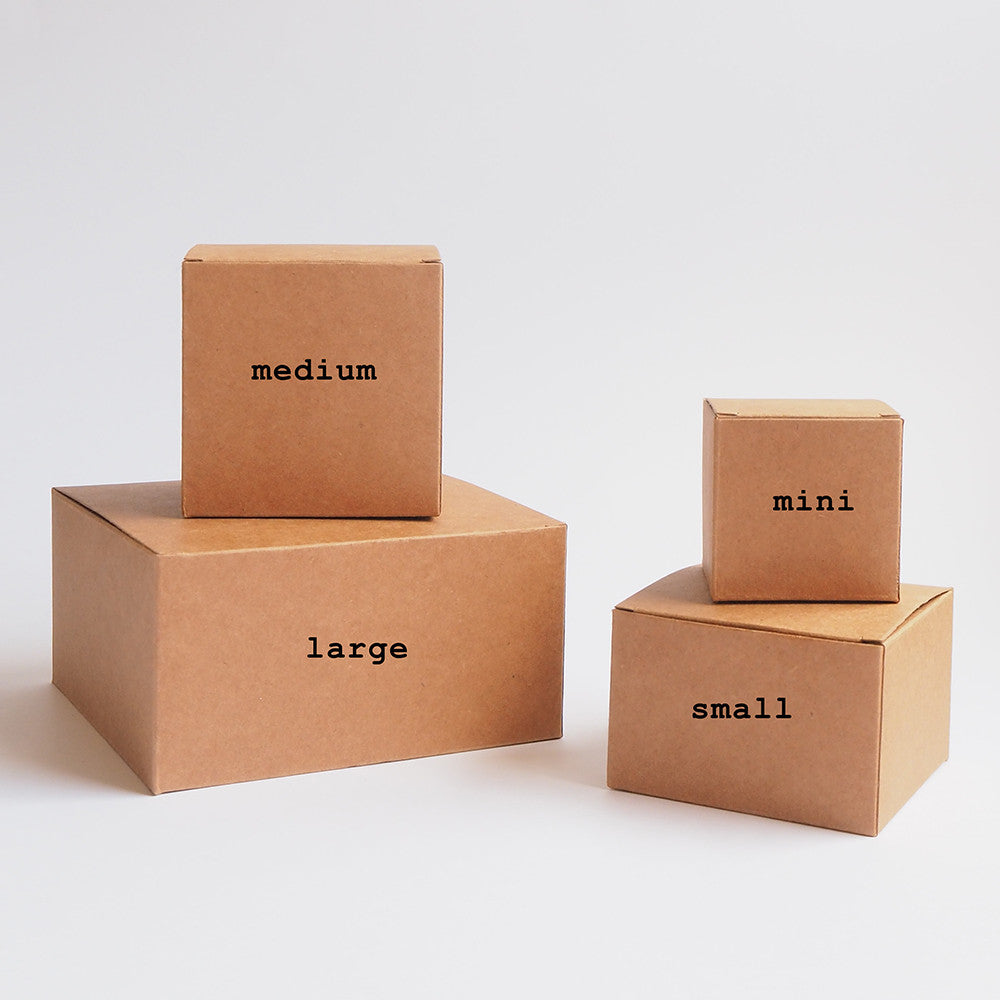 Brown Kraft Boxes (grease-proof lined)
