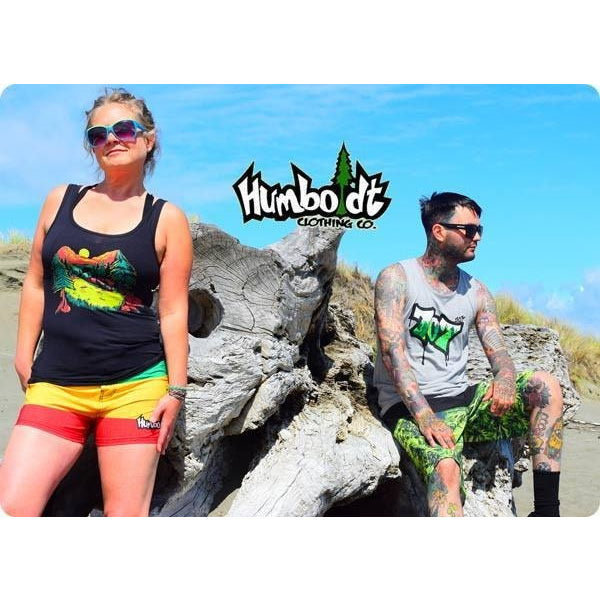 Beach photo Rasta & Crops weed print boardshorts - Humboldt Clothing