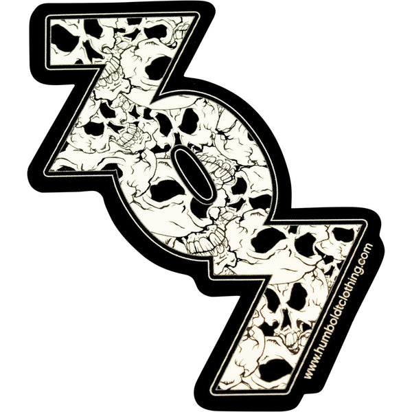 Skulls Inside 707 Sticker - Humboldt Clothing Company