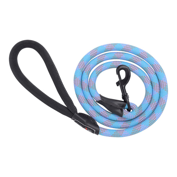 Humboldt Dog Rope Leash-TUR-PUR-GRN