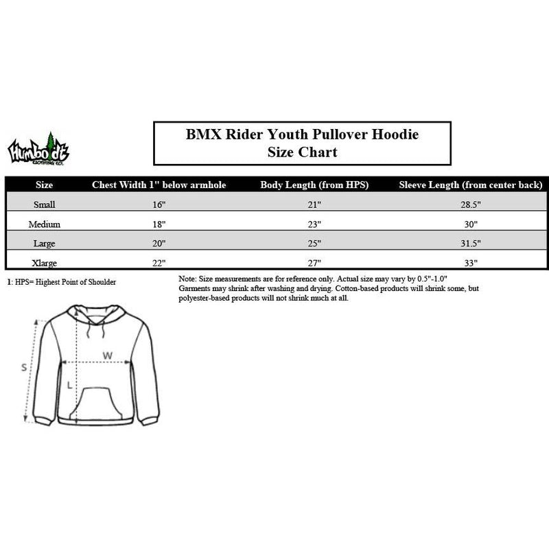 BMX Rider Youth Pullover Hoodie