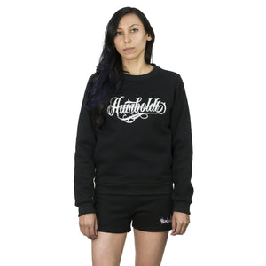 Tattoo Style Women's Crewneck - Black Humboldt Tattoo Sweatshirt | Humboldt Clothing