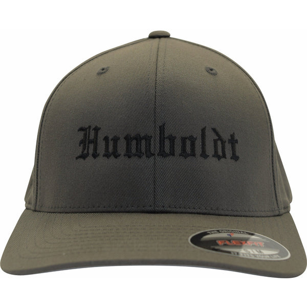 Curved Bill Old English Flex Hat - Humboldt Clothing Company