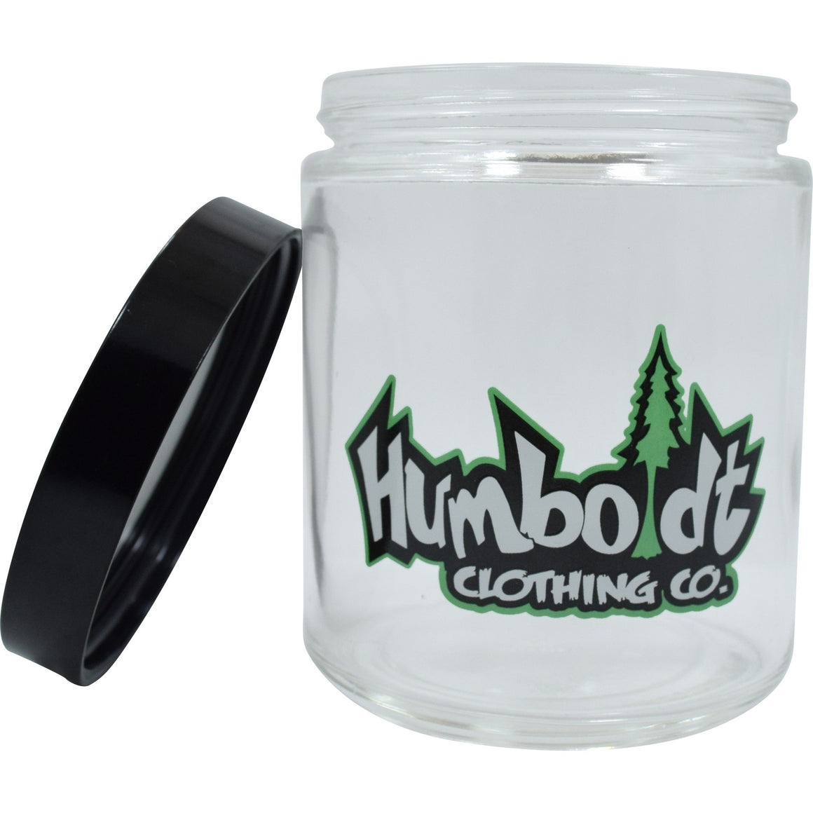 Large Clear Screw Top Custom Jar - Humboldt Clothing Company