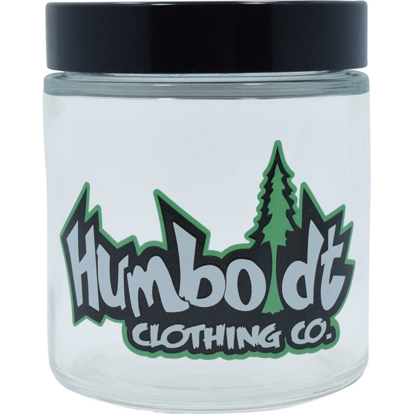 Medium Clear Screw Top Custom Jar - Humboldt Clothing Company