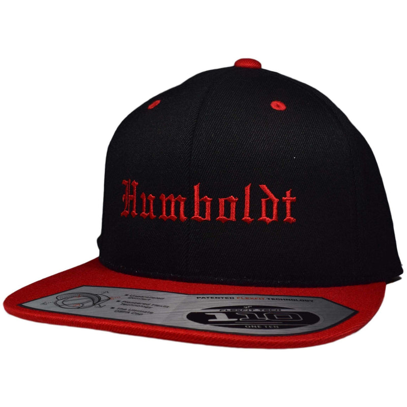 Flat Bill Old English Snapback Hat - Humboldt Clothing Company