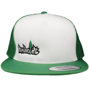 Flat Bill Small Treelogo Kelly Snap Hat - Humboldt Clothing Company