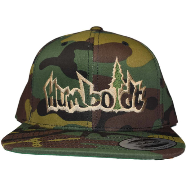Flat Bill Treelogo Outline Classic Snap Hat - Humboldt Clothing Company