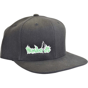 Flat Bill HEMP Small Treelogo Snap Hat - Humboldt Clothing Company
