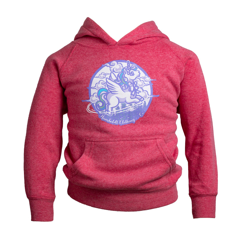 Flying Unicorn Toddler Pullover Hoodie