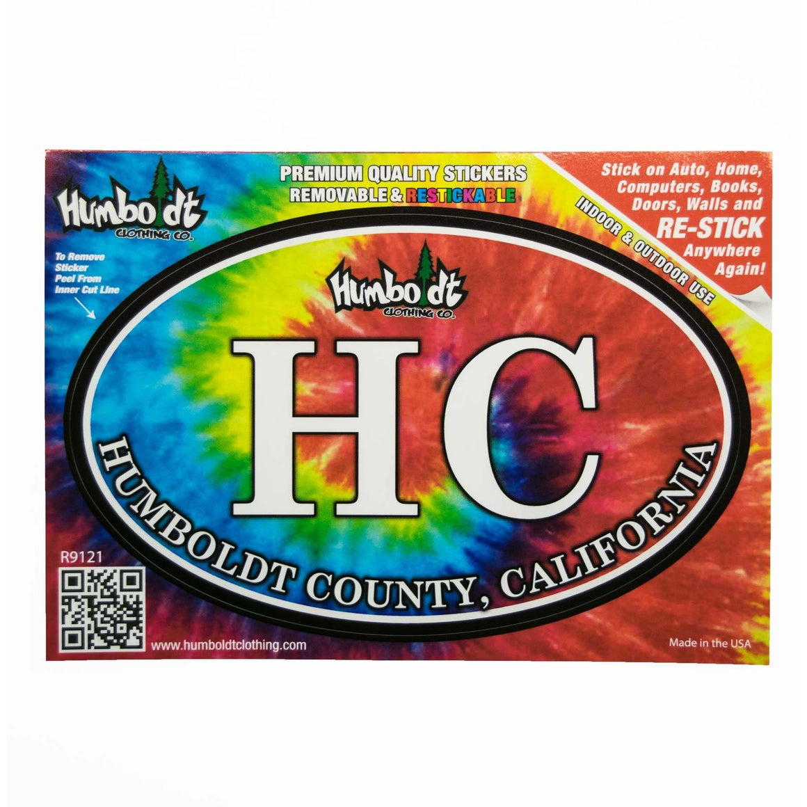 HC Tie Dye Sticker - Humboldt Clothing Company