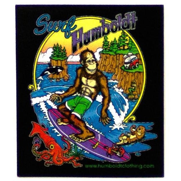 Bigfoot Surfin Sticker - Humboldt Clothing Company