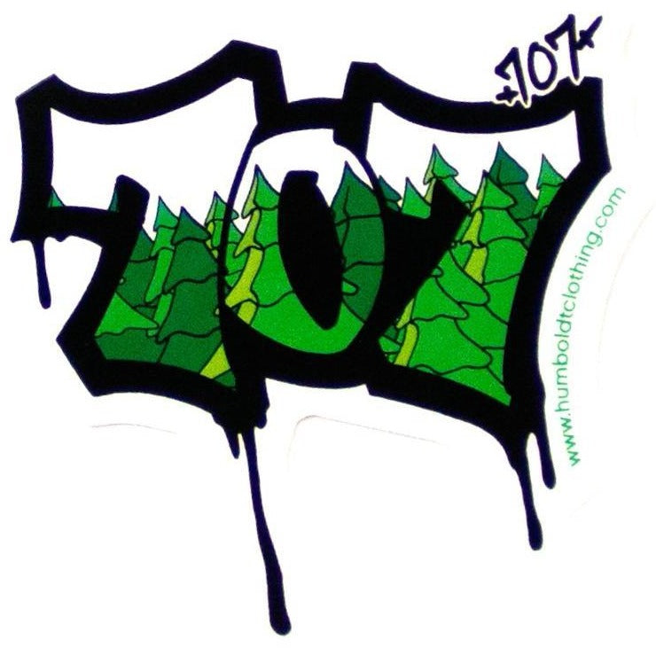707 Trees Sticker - Humboldt Clothing Company