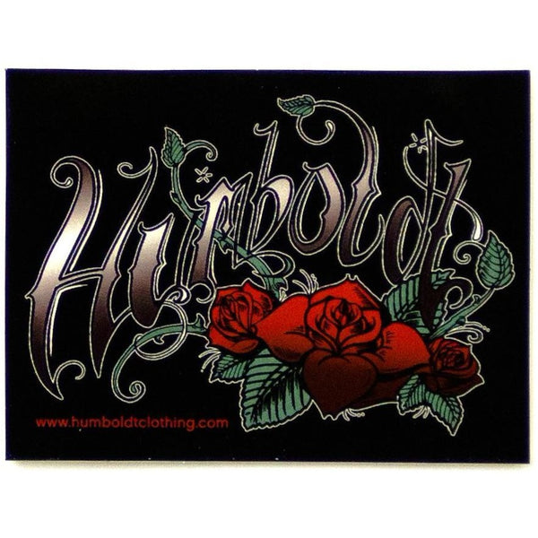 Tattoo Roses Sticker - Humboldt Clothing Company