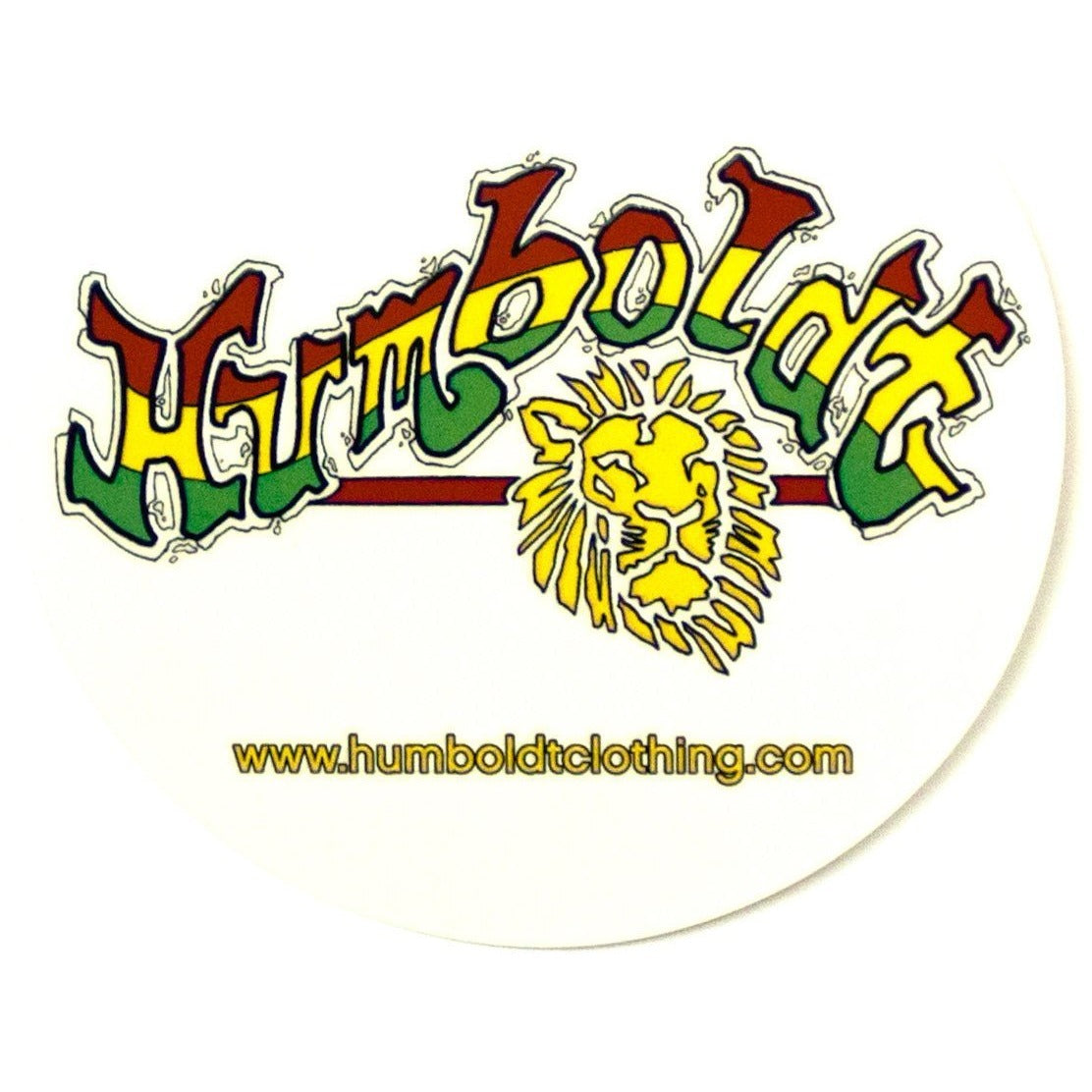 Rasta Lion Sticker - Humboldt Clothing Company