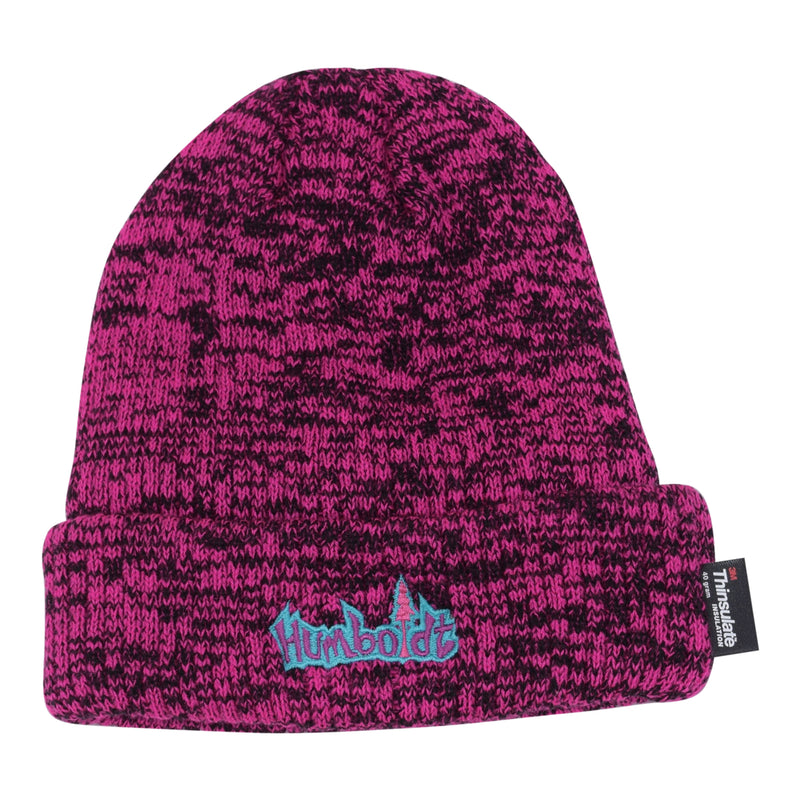 Thinsulate Foldup Beanie Hot Pink/Black