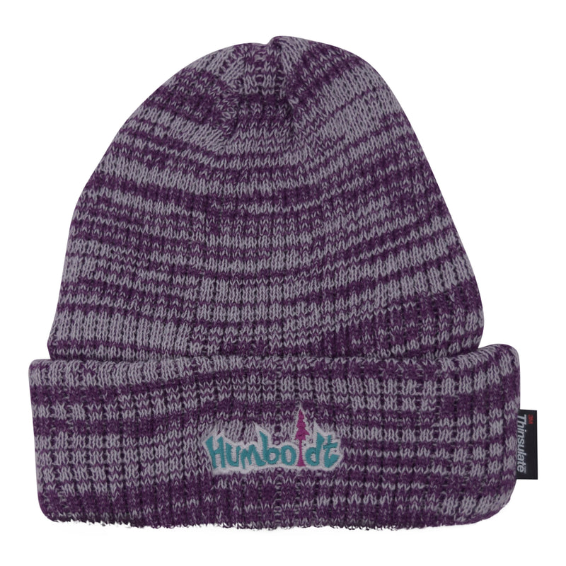 Thinsulate Foldup Beanie White/Purple