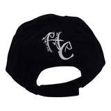 Curved Bill Treelogo Outline Velcro Hat BLK-WHT-KEL