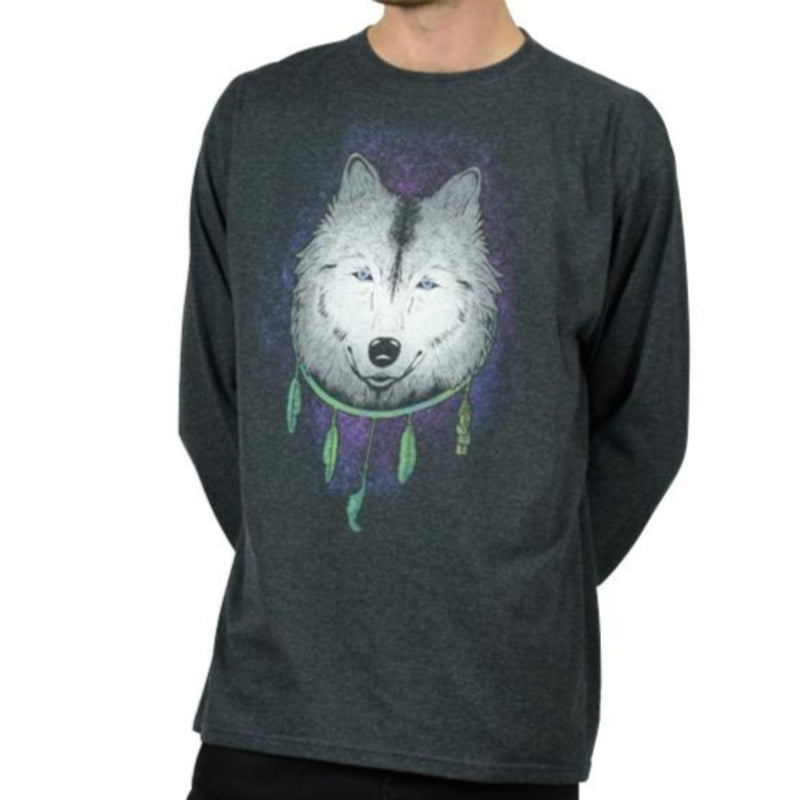 White Wolf Long Sleeve Tshirt