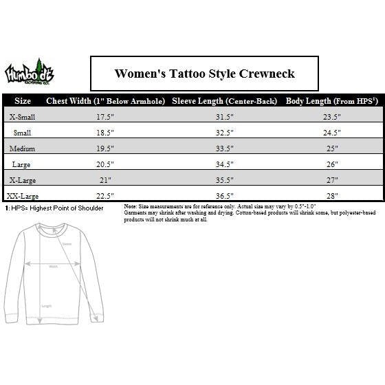 Tattoo Style Women's Crewneck - Humboldt Clothing Company