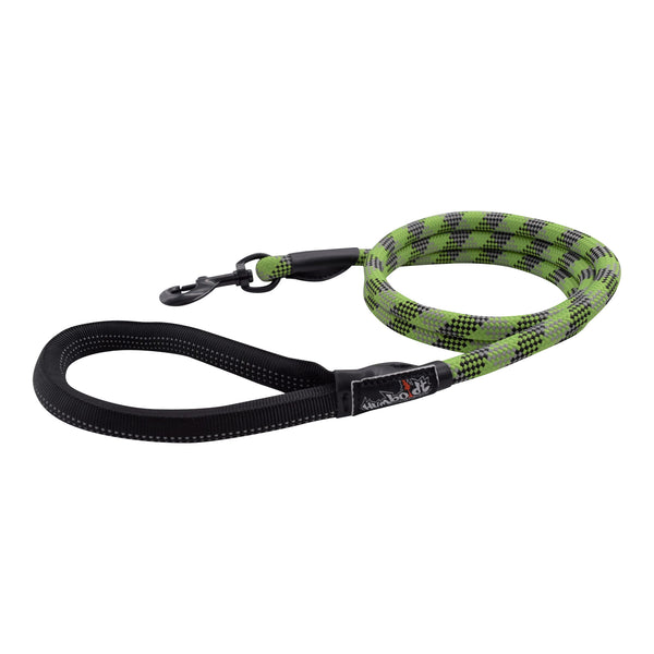 Humboldt Dog Rope Leash-GRN-BLK-GRY