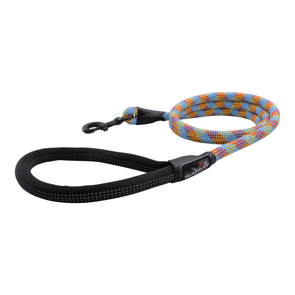 Humboldt Dog Rope Leash-RED-YEL-BLUE