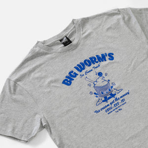 Load image into Gallery viewer, Def Big Worm's Ice Cream Tee - Heather Grey