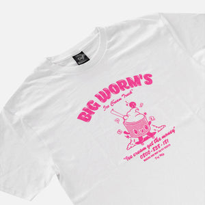Load image into Gallery viewer, Def Big Worm's Ice Cream Tee - White