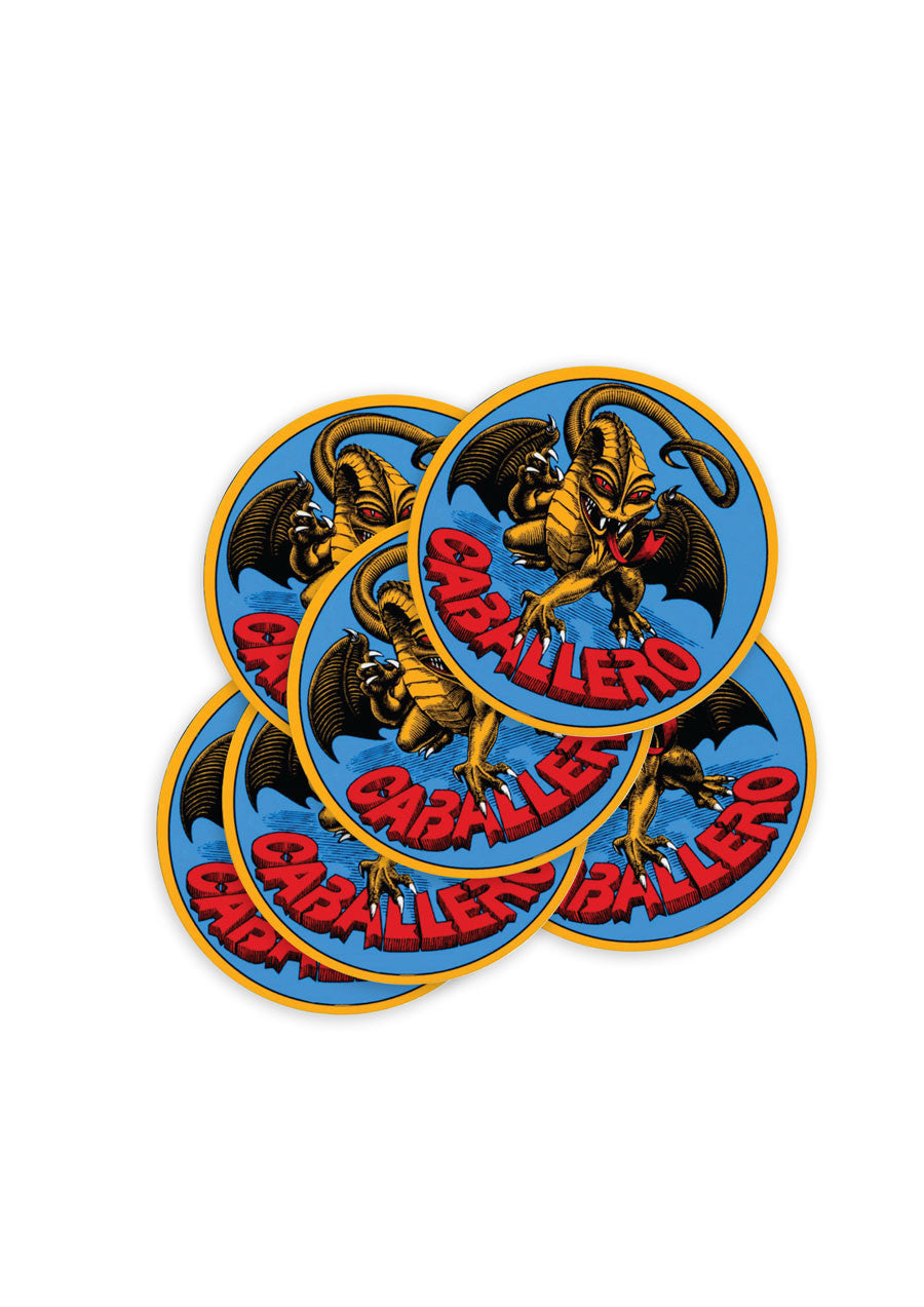 Powell Cabarello Original Dragon Sticker - Medium
