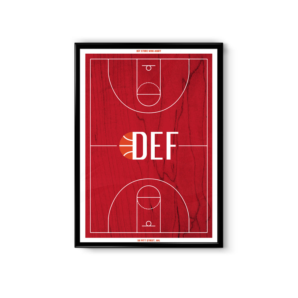 Def Alley-Oop A3 Poster - Red