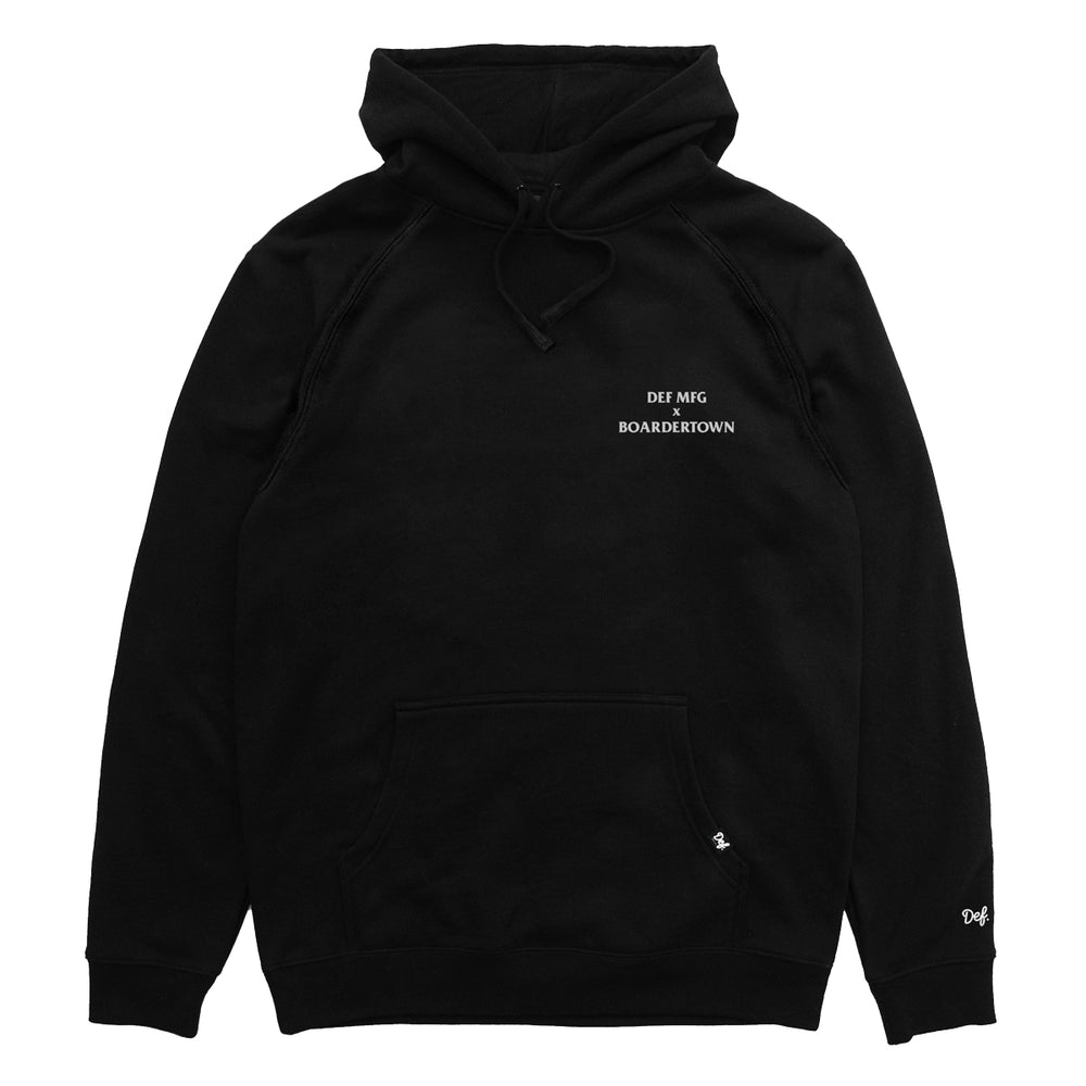 Def x Boardertown Shop Hood - Black