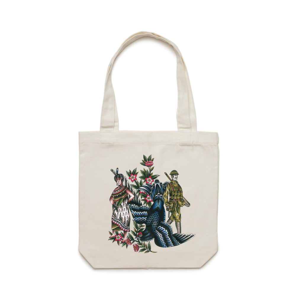 Def x Capilli 'Descendant Of' Colour Tote Bag - Cream