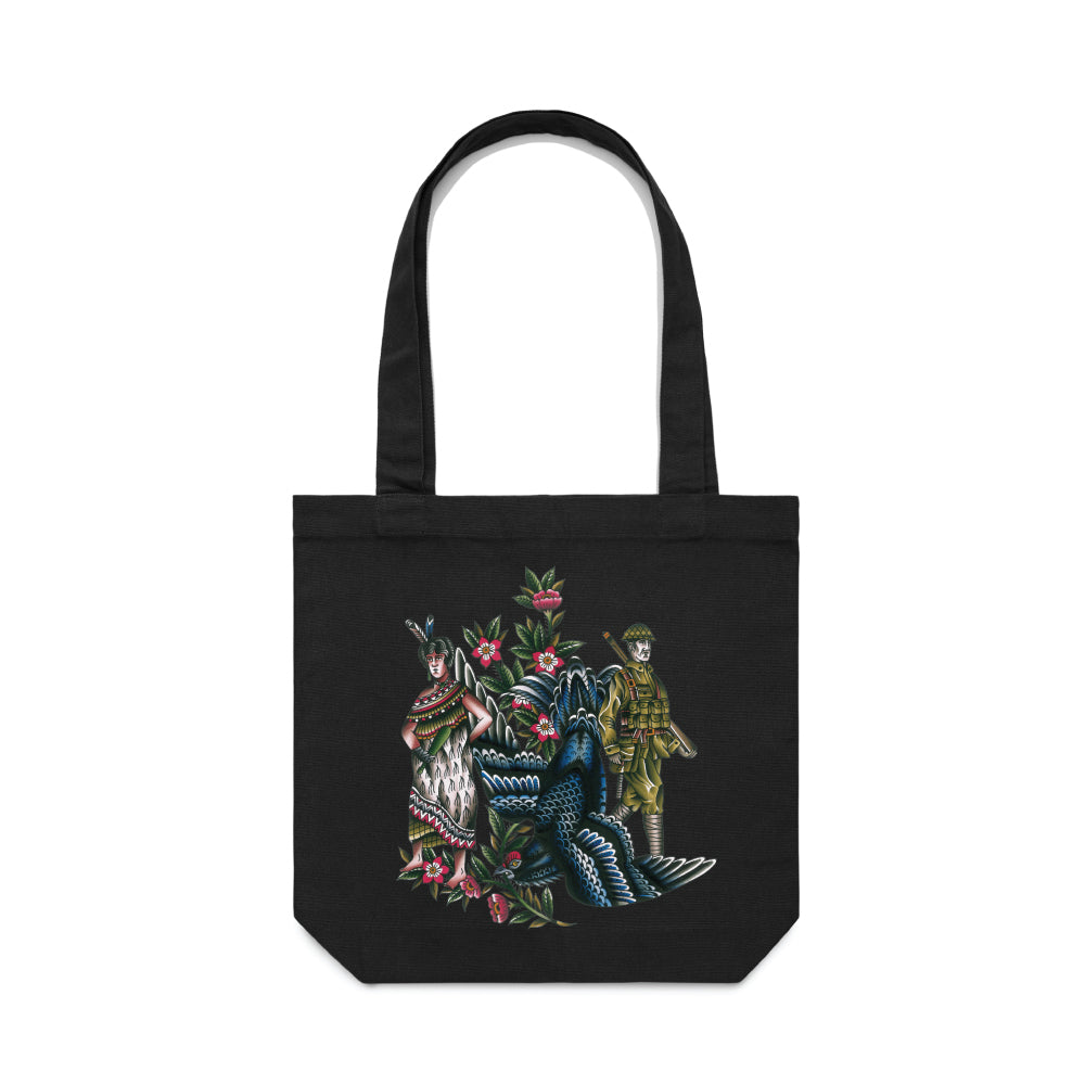 Def x Capilli 'Descendant Of' Colour Tote Bag - Black